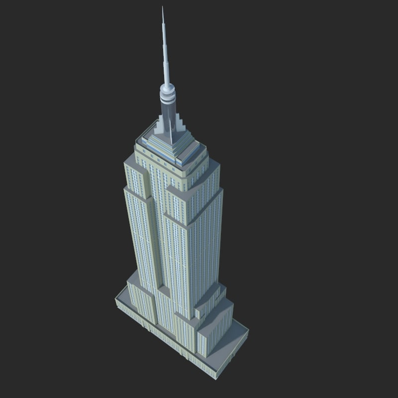 3d skyscraper empire state model