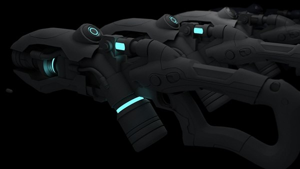 3d model science fiction weapon