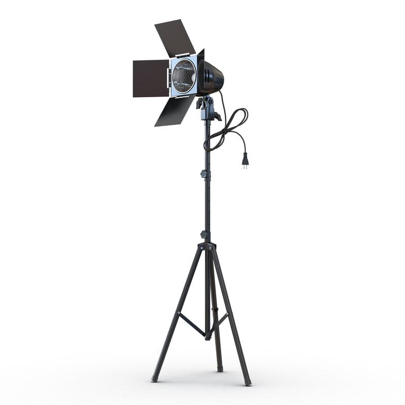 3d model barn door studio light