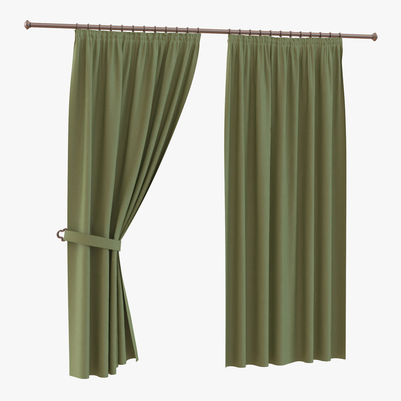 3d curtain 2 green