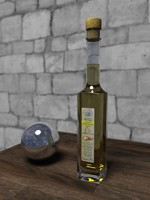 3d model bottle olive oil