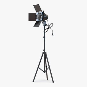 3d model barn door studio light