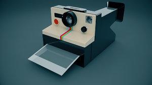 3d model polaroid camera