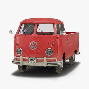 volkswagen type 2 single 3d model