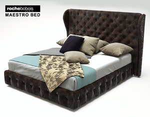 3d rochebobois maestro bed model