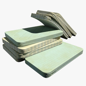 3d model abandoned old mattresses