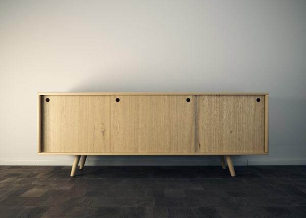 free sideboard vrayforc4d 3d model