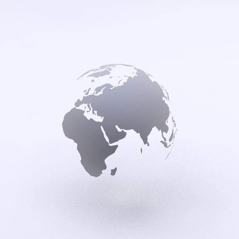 3ds max world globe