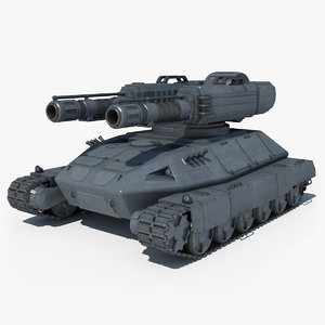 tank sci fi 3d max
