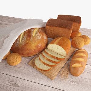 bread set 3d max