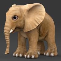 baby elephant c4d