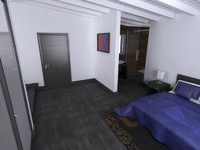 room scene 3d max