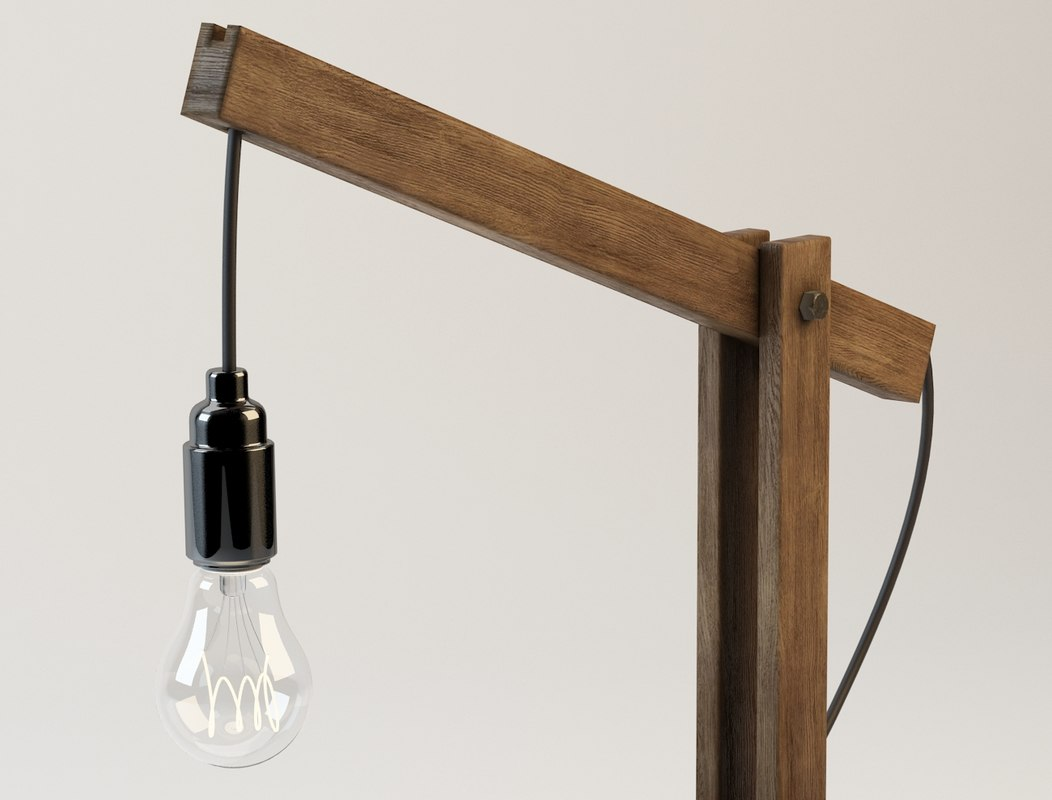max wooden desk lamp