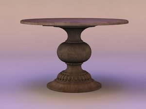 3d melange cambria pedestal table