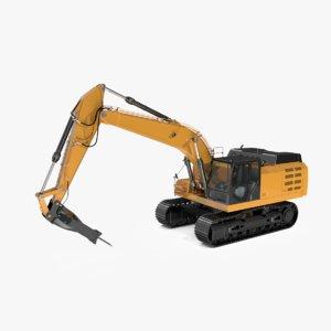 dxf track hydraulic hammer