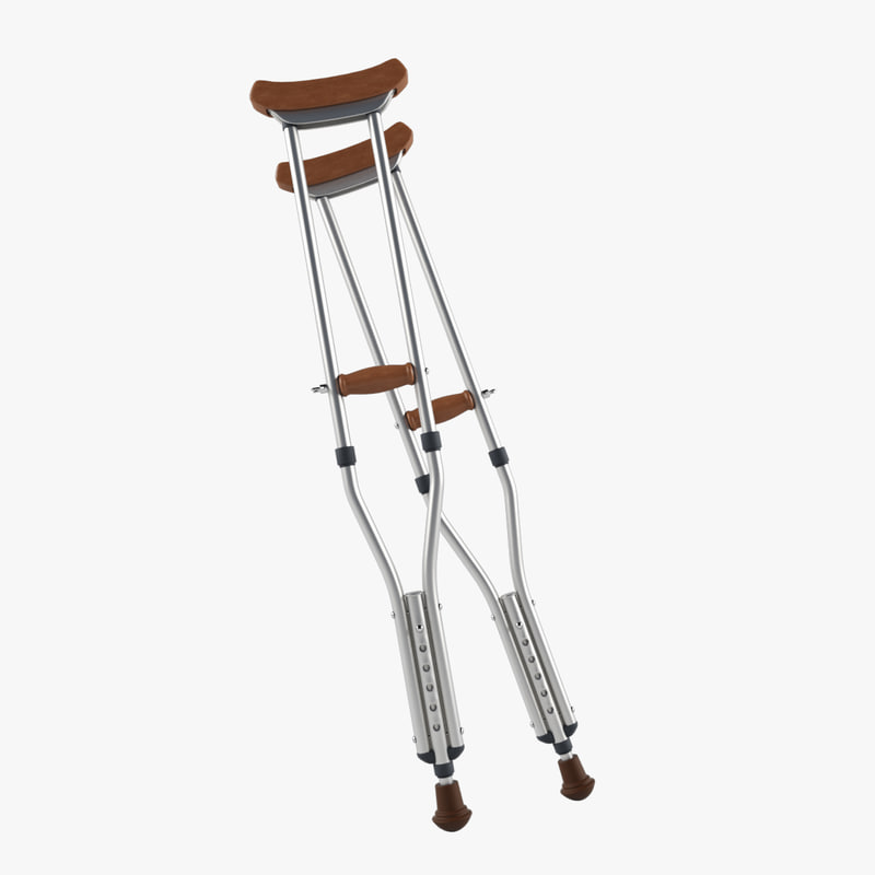 crutches 3d model