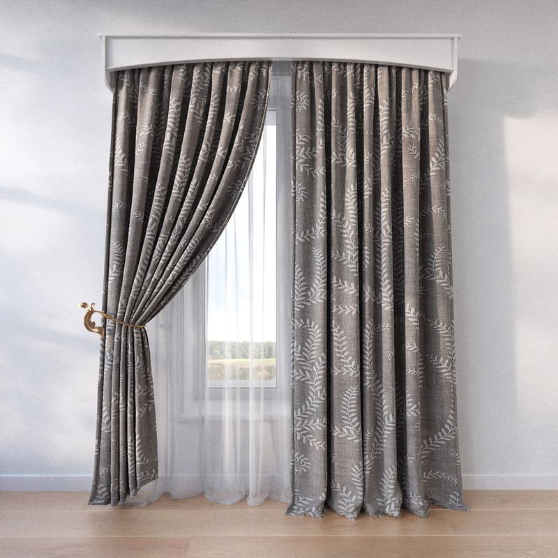 3d window curtain