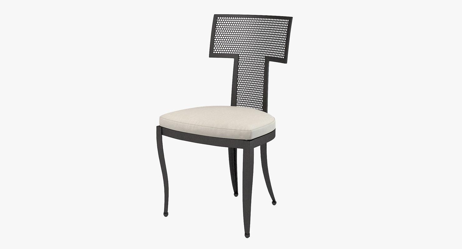 goods hadley outdoor chair 3d model
