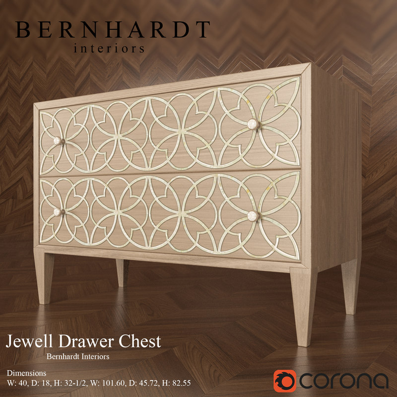 drawer chest jewell bernhardt 3d model
