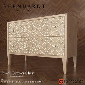 drawer chest jewell bernhardt 3d model