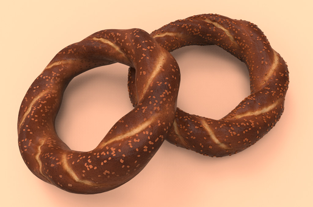 3ds max simit turkish bread