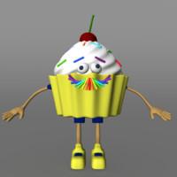cute character 3d obj