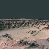 3d hills cliffs terrain model