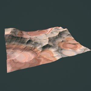 3d model of hills cliffs terrain