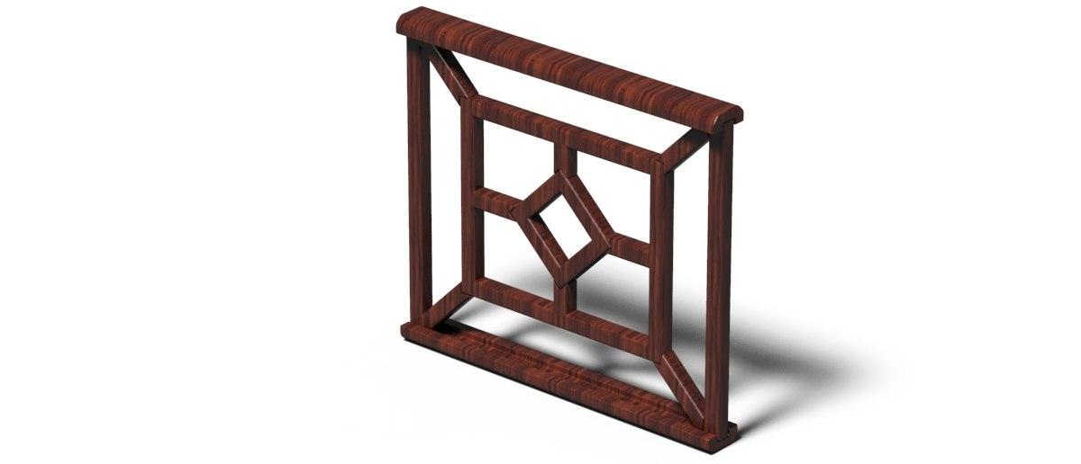 handrails railings 3d model