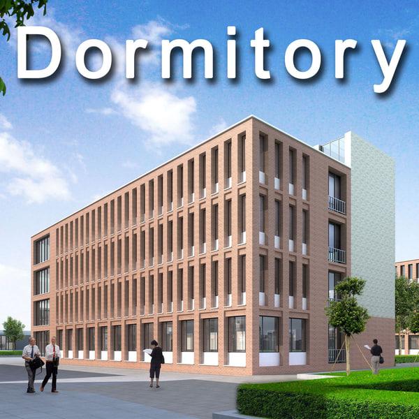 dormitory university 3d max