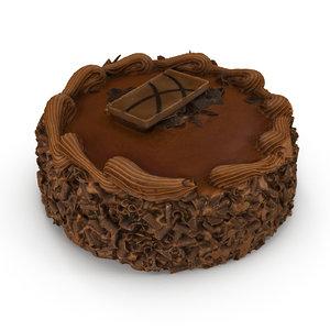 chocolate cake 3d max