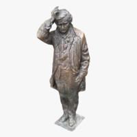 3d model of columbo statue
