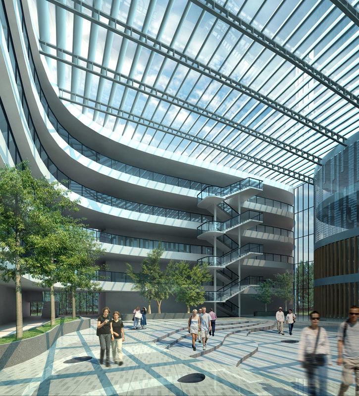 3ds max university teaching building