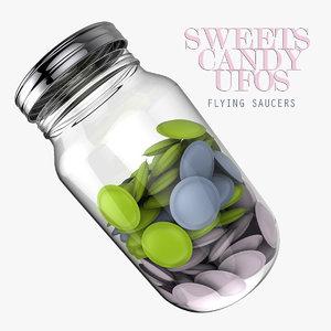 ufo candy jar 3d obj
