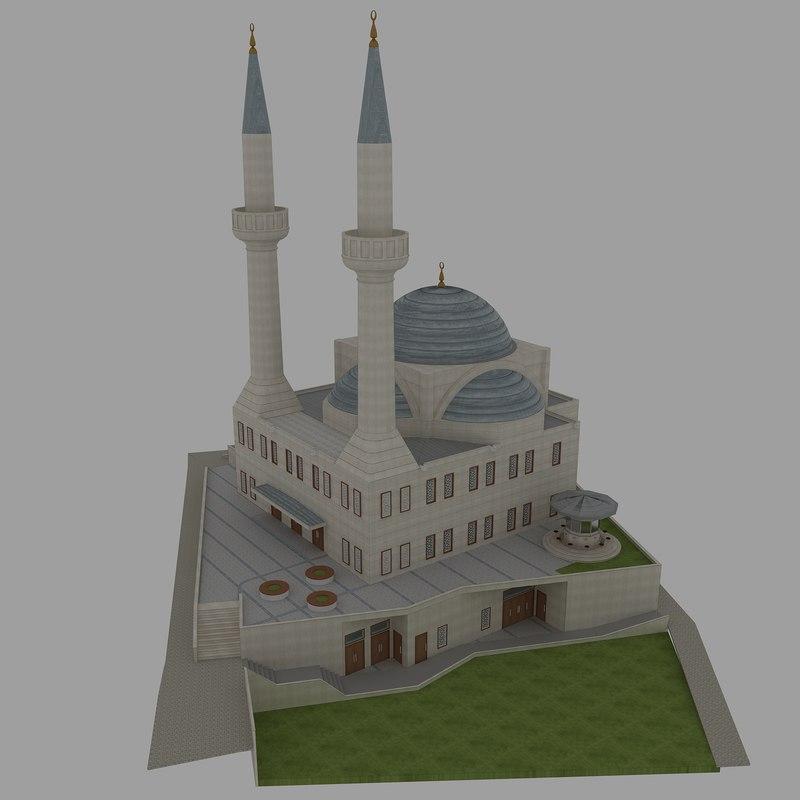 3d model mosque exterior