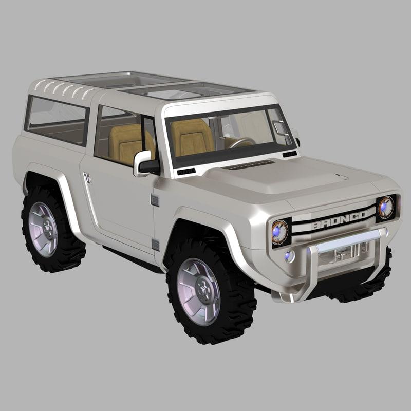 bronco concept 3d dwg