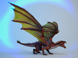 dragons boss 3d model
