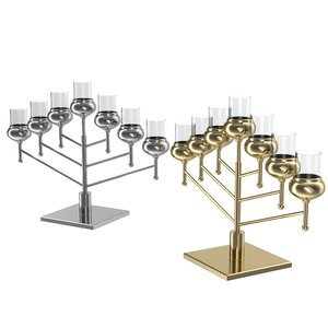 3d menorah model