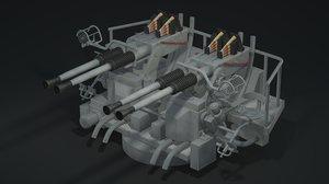 40mm machine gun bofors 3d ma