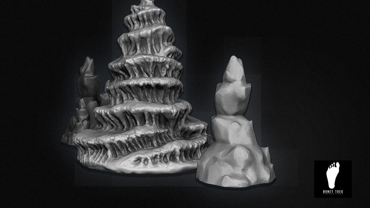 3d model cave formations