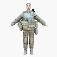 3d model navy seal desert