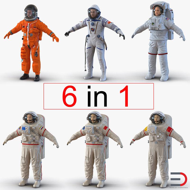 3d astronauts 2 modeled nasa model