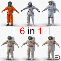 3d astronauts 2 modeled nasa model