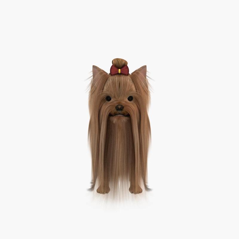 3d model dog terrier