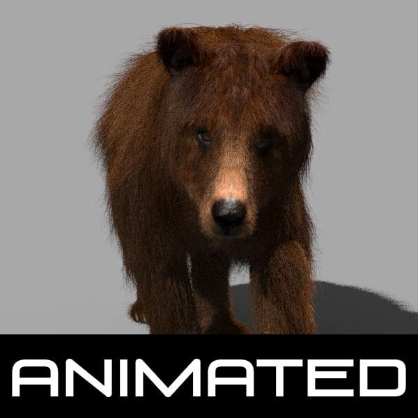 3dsmax wild bear animation
