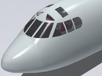b-52 cockpit 3d model