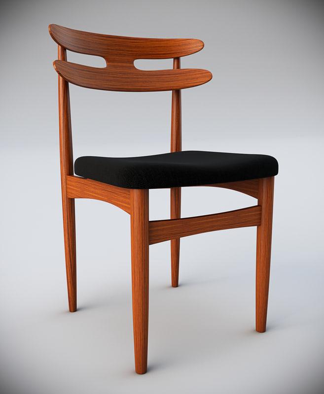max klein bramin wooden dining chair