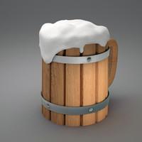 Ancient beer stein