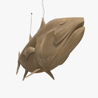 3ds max fish bamboo hanging decor