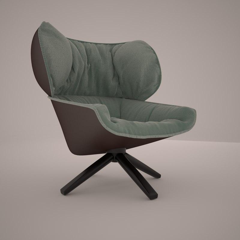 italia tabano chair 3d x